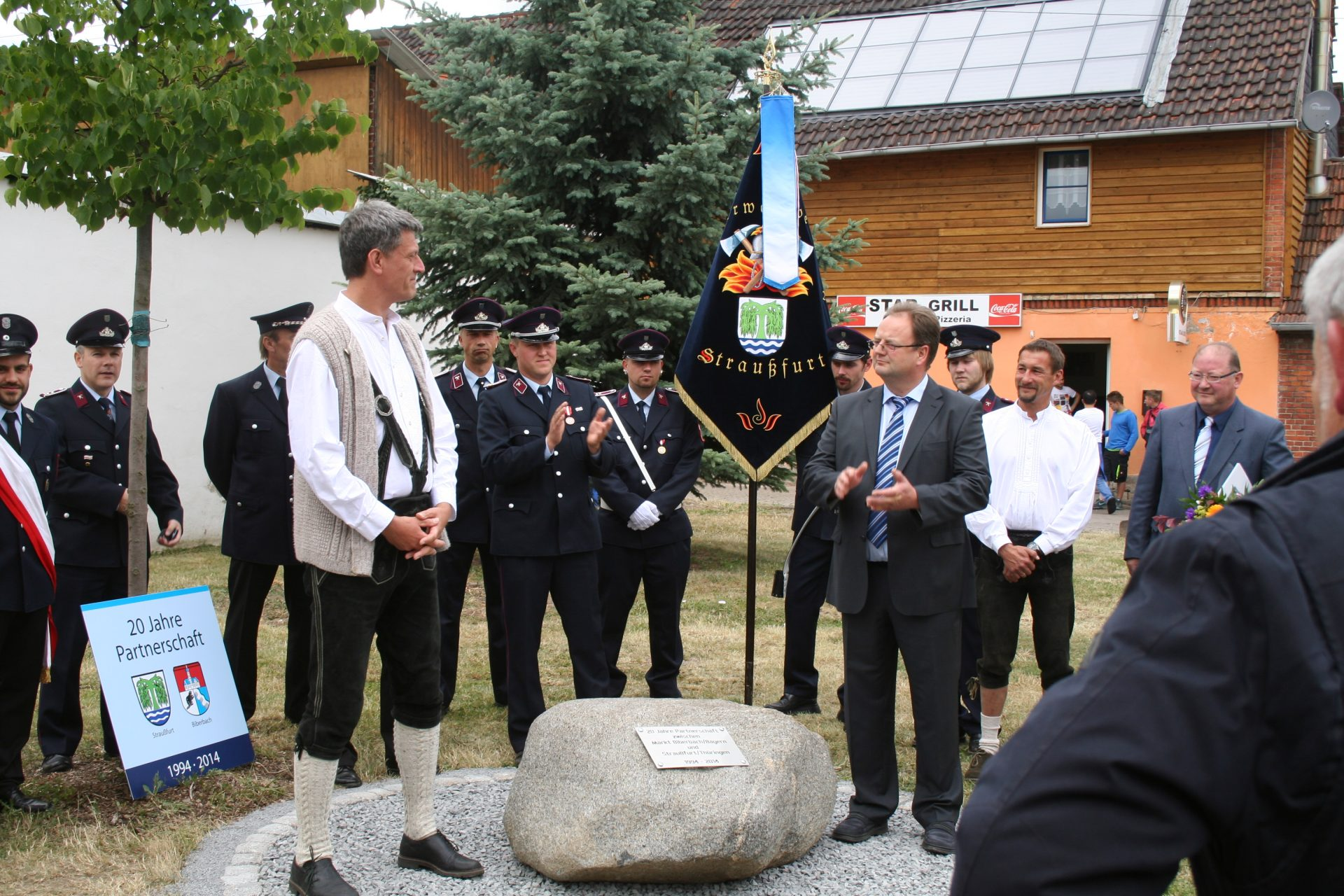 Jubiläum in Straußfurt mit den Bürgermeistern