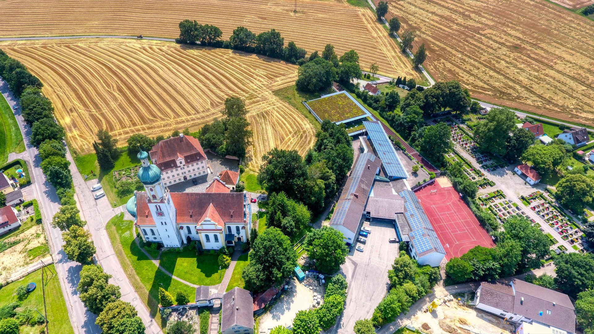 Luftbild Biberbach Foto: Sascha Obermann
