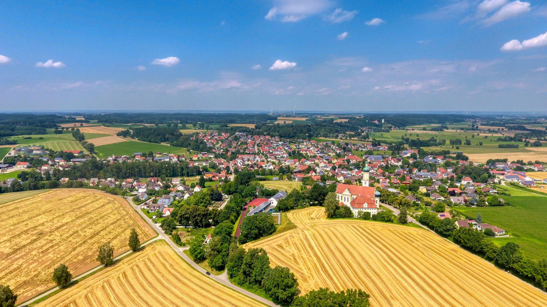Luftbild Biberbach Foto: Sascha Oberman